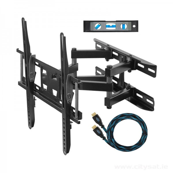"Cheetah Mounts APDAM3B Dual Articulating Arm Wall Mount Bracket for 20-55"" TVs"