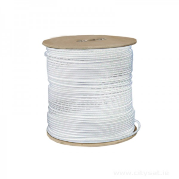 250m RG6 white coaxial cable