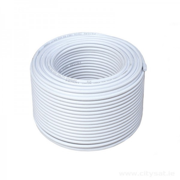 Coaxial RG6 Cable White 100m