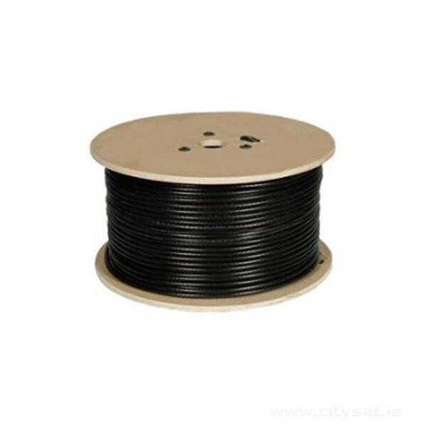 250m RG6 Black coaxial cable