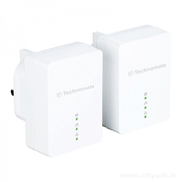 Technomate 200 Mbps HomePlug AV Powerline Adapter Starter Kit (Pack of 2)